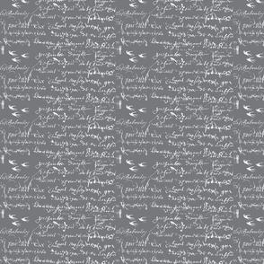 French Script Bold, Steel Gray