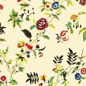 Rococo - Painted Silk, c. 1750-60