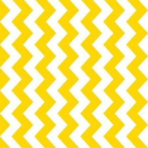 White and yellow vertical chevrons.