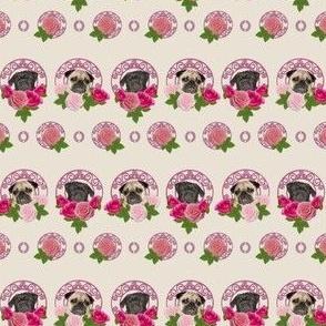 pug vintage wall paper, pug love:)