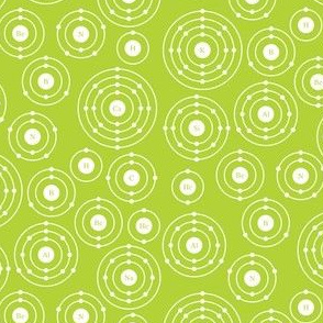 Periodic Shells (Green Ditsy)