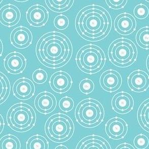 Periodic Shells (Blue Ditsy)