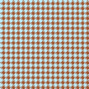 baby blue chocolate houndstooth