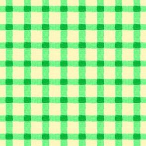spring green rough checks