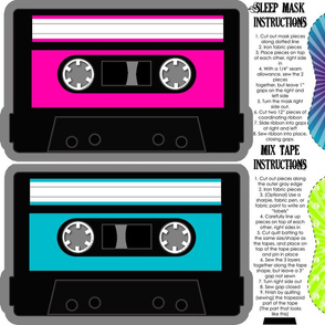 Girls Rock Quilted Mix Tape and Sleep Mask