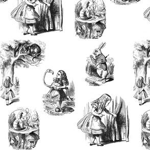 Alice in Wonderland collage