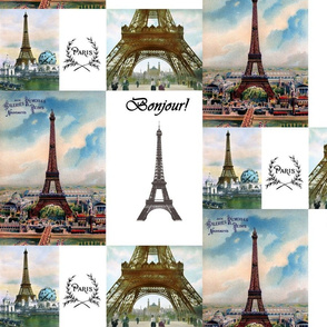 Eiffel Tower Paris collage
