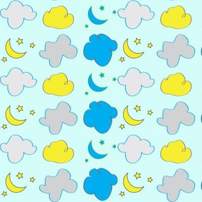 Clouds, Moons, and Stars