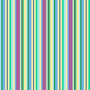 multicolor blue stripes