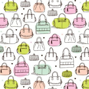 Vintage fashion bags shopper pattern