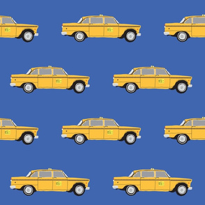 NYC cab-blue