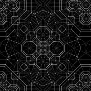 Origami Maps - Black