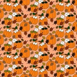 Babies In The Pumpkin Patch Fabric