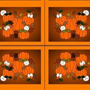 Babies In The Pumpkin Patch Fabric With Pumpkins
