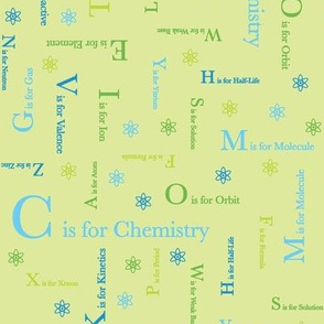 C is for Chemistry (Lime Green)
