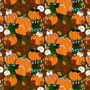 Babies In The Pumpkin Patch Fabric 4