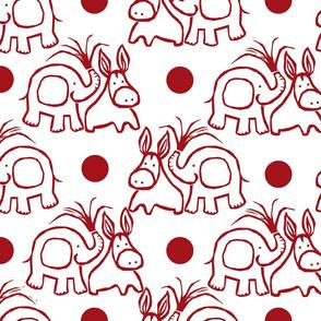 b-dottie donkey white