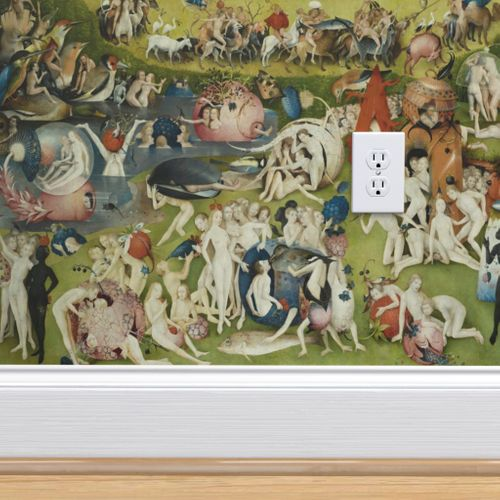 Wallpaper The Garden of Earthly Delights by Hieronymus Bosch , Center Panel