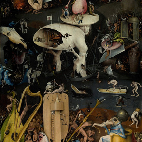 The Garden of Earthly Delights by Hieronymus Bosch - Right Panel