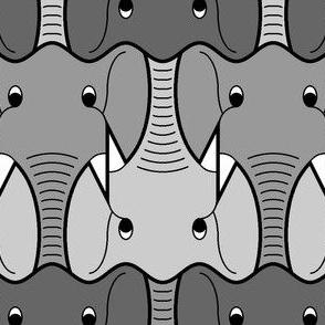 01427793 : elephant head 3 : D