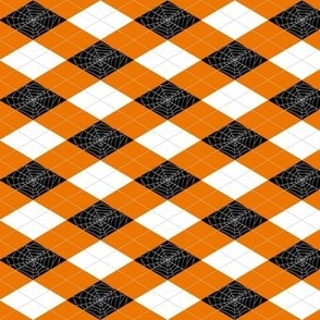Spiderweb Argyle - Orange