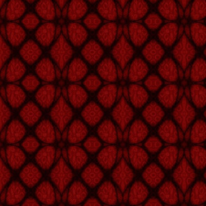 Red and Black Celtic Knot Fabric with Stained Glass Background