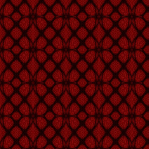 Red and Black Celtic Stained Glass