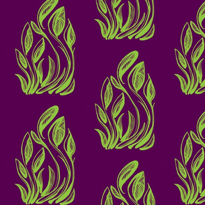 flor-radical green and purple