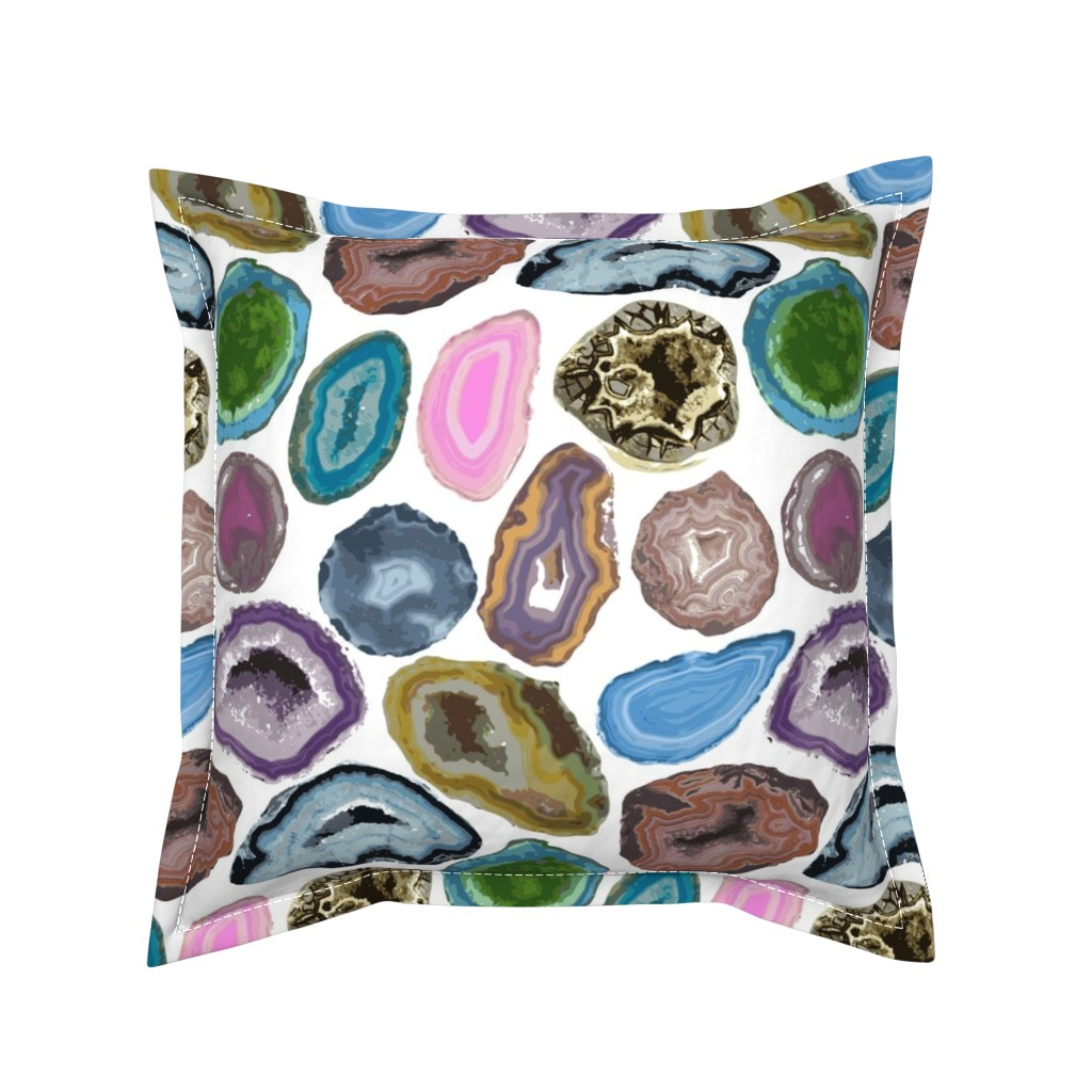 Serama Throw Pillow featuring geode by tinamhall