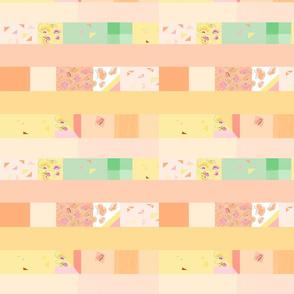 peach strip quilt 3