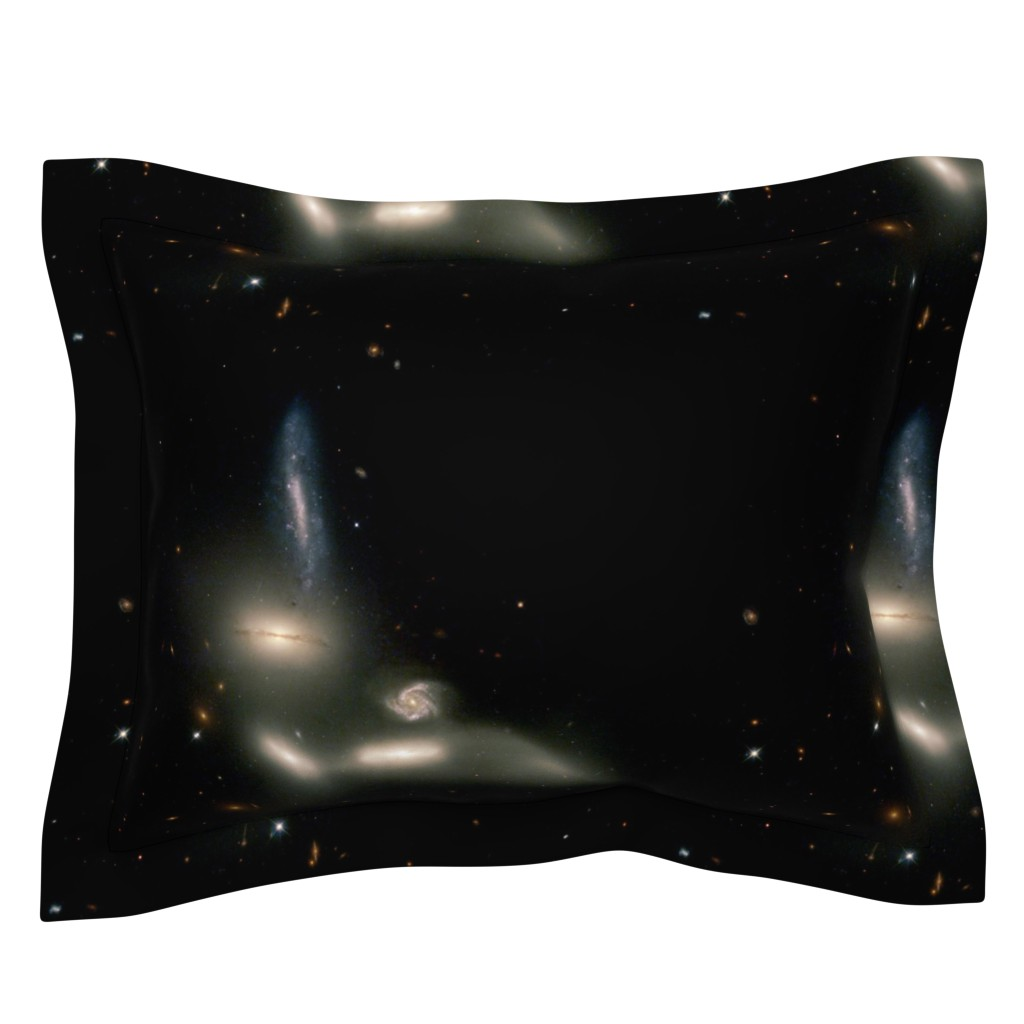 Sebright Pillow Sham featuring The Great Bird of Space by datawolf