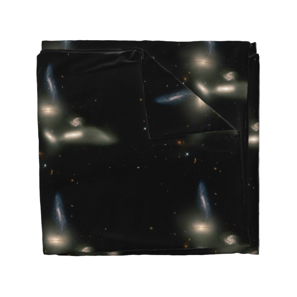 Wyandotte Duvet Cover featuring The Great Bird of Space by datawolf