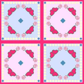 EmbroideryRoses-Dolie-Napkin-colored-16-1-2-framed