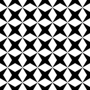 black X and Diamonds Tesselation