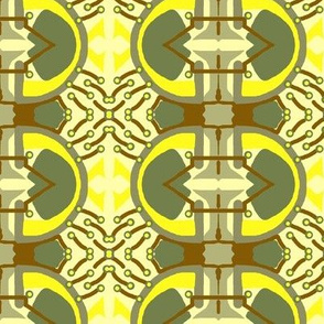 Green and Yellow Abstract