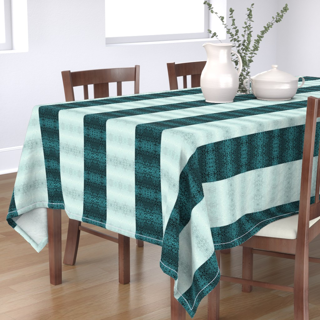Bantam Rectangular Tablecloth featuring Quilters Winter Snow by wren_leyland