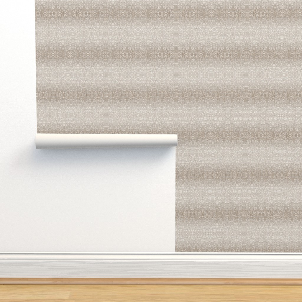 Isobar Durable Wallpaper featuring Quilters Lace Silver Mauve by wren_leyland