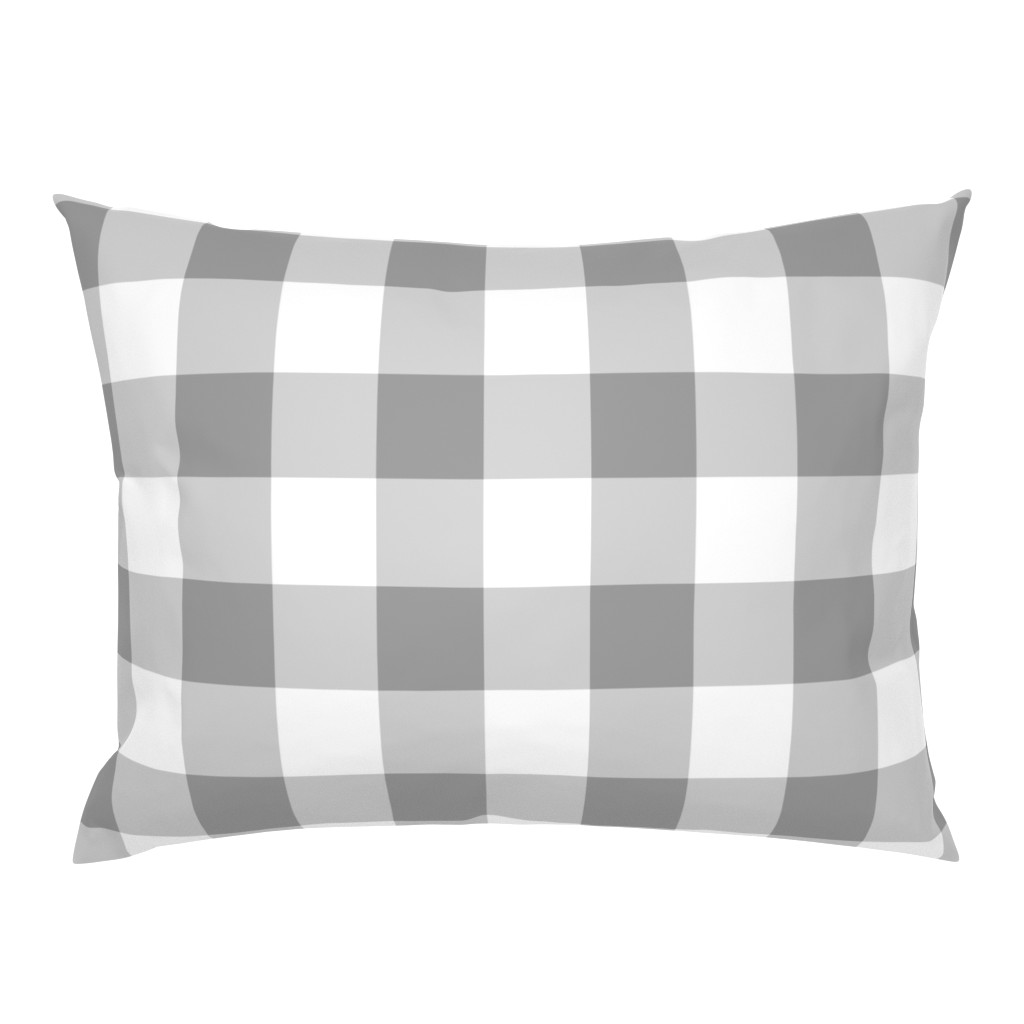 Campine Pillow Sham featuring Grey Buffalo Check by aacraven85