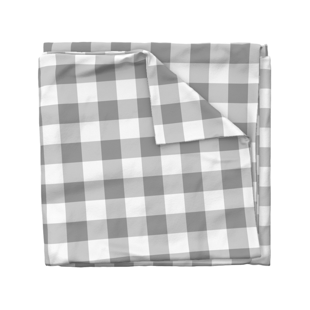 Wyandotte Duvet Cover featuring Grey Buffalo Check by aacraven85