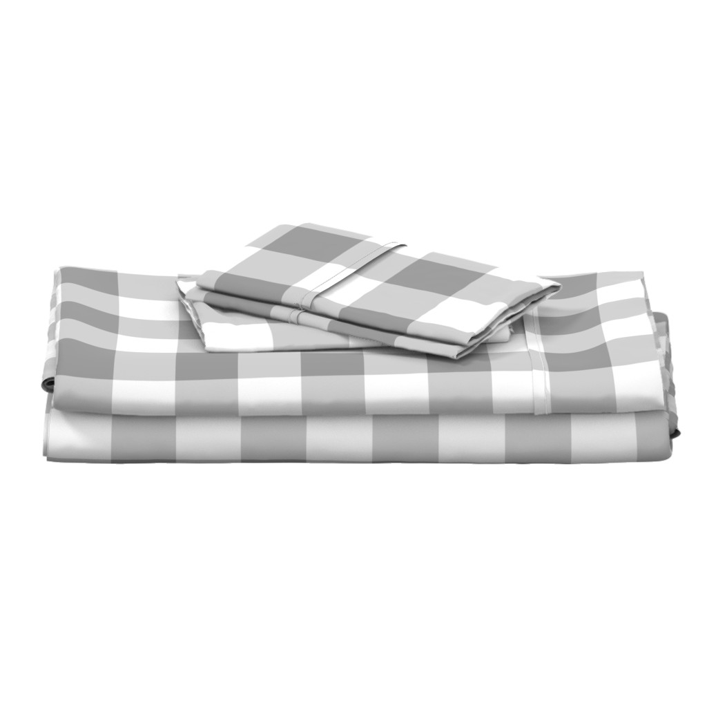 Langshan Full Bed Set featuring Grey Buffalo Check by aacraven85