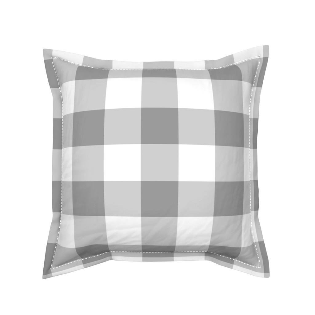 Serama Throw Pillow featuring Grey Buffalo Check by aacraven85