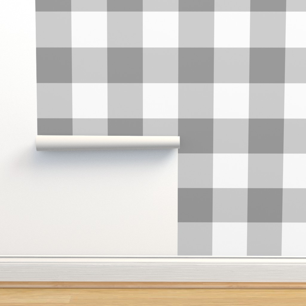 Isobar Durable Wallpaper featuring Grey Buffalo Check by aacraven85