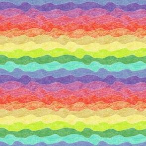 small rainbow crayon waves