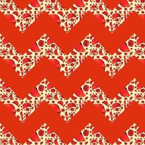 poppy red chevron