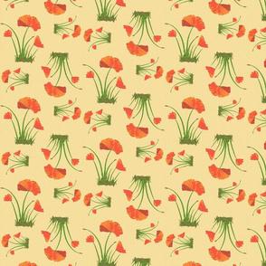 poppies 2 linen