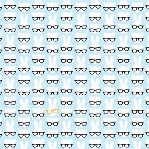 Animals with glasses - blue