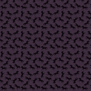 Carriage Trade Faster - Galloping Horses - Aubergine