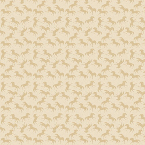 Carriage Trade Faster - Galloping Horses - Cream