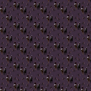 Carriage Trade Faster - Eventer Scatter Print - Aubergine