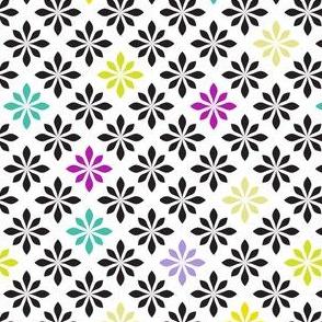 stylized florals retro colors 2